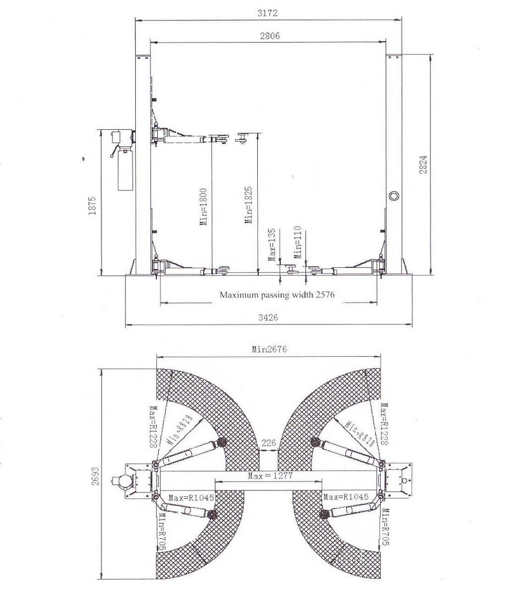 Автоподъемник REMAX V2-4 схема